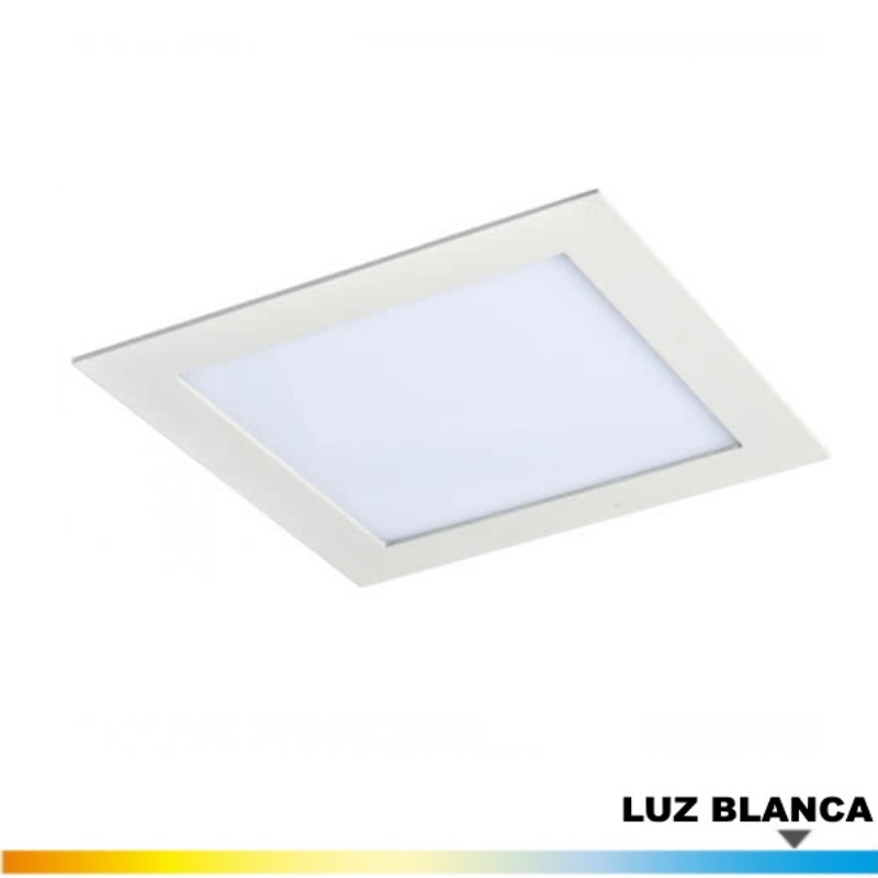Downlight Blanco 18 Wat. LED Luz Blanca
