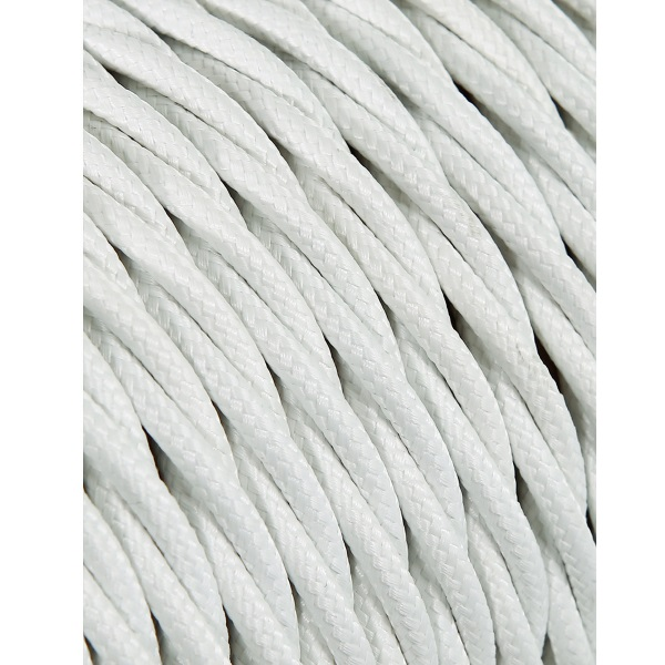Cable Seda Trenzado Blanco 2 x 0.75 mm. (1 mt)