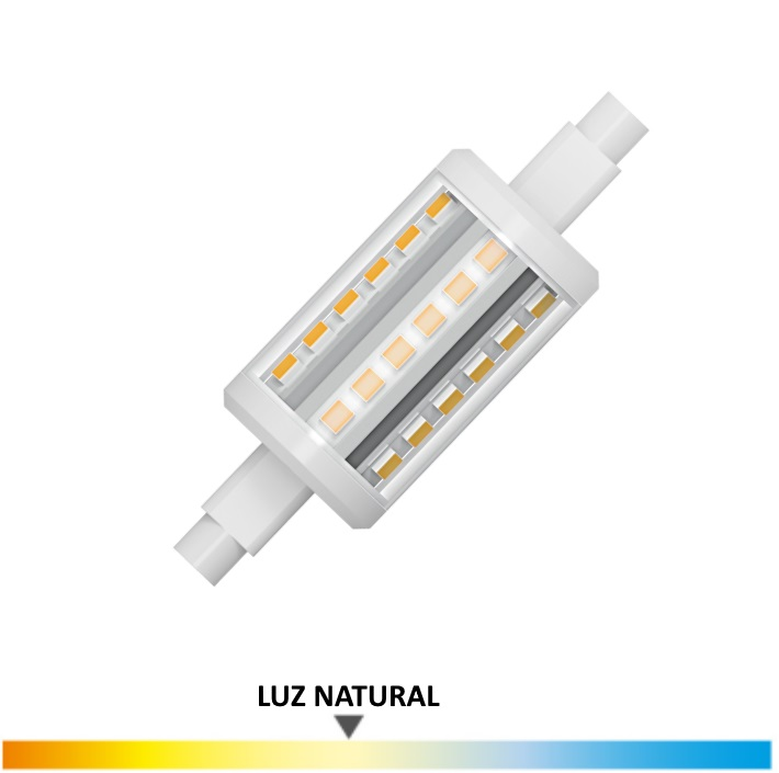 Bombilla Led Lineal 5 Wat. 78mm, Luz Natural
