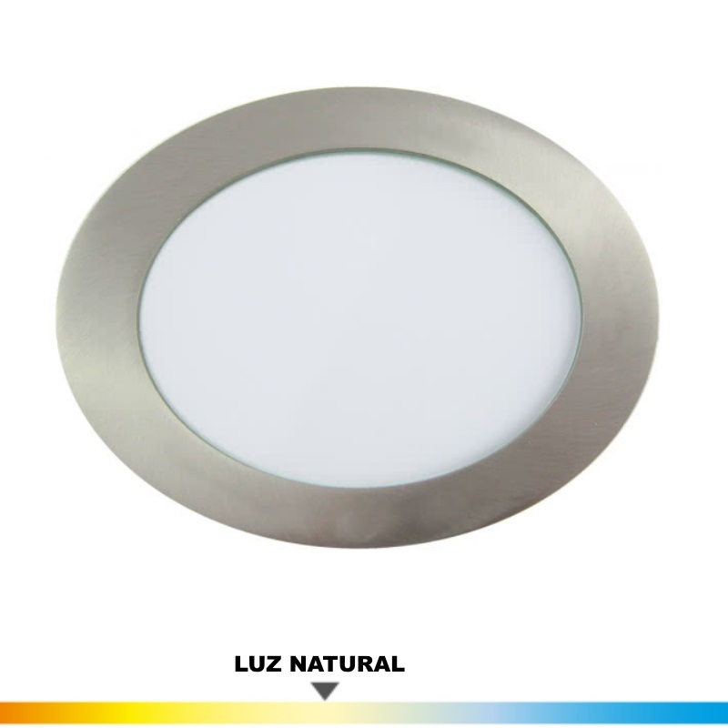 Downlight Niquel 12 Wat. LED Luz Natural