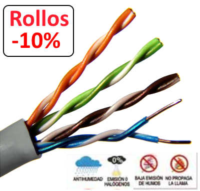 Cable UTP CAT6e  Libre Hálogenos