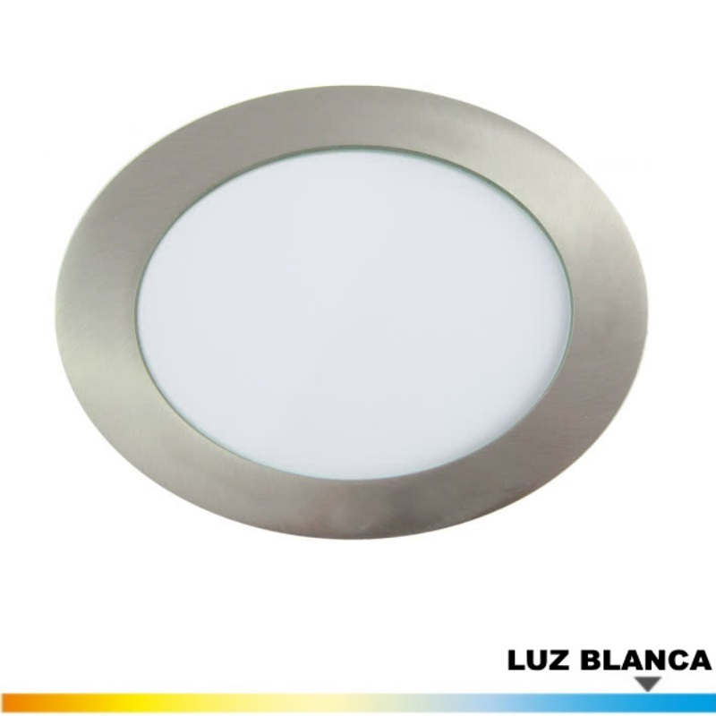 Downlight Niquel 12 Wat. LED Luz Blanca