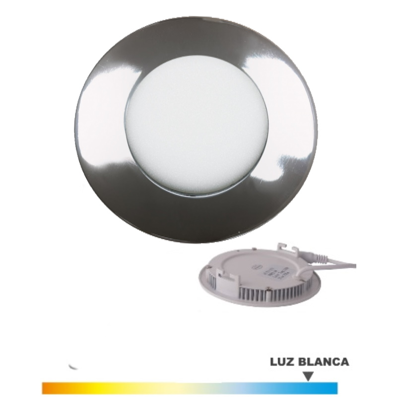 Downlight Niquel  5 Wat. LED Luz Blanca