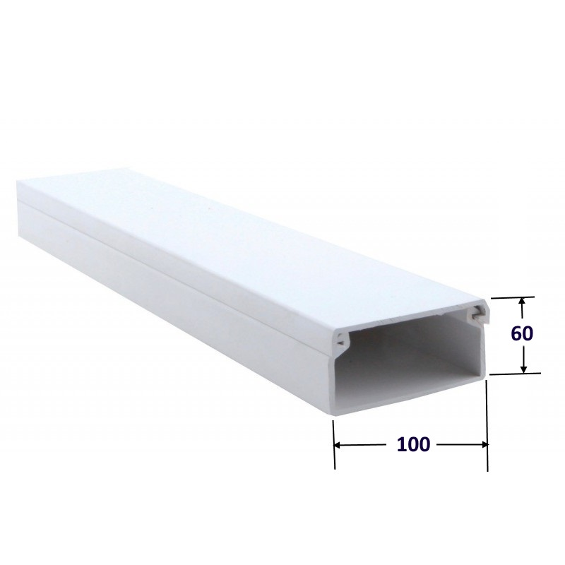 Canaleta 100 x 60 mm. (Barra 2 mts)