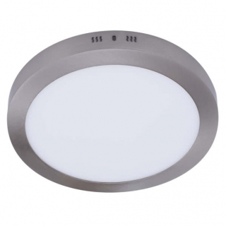 Downlight Sup.red. 24w 4000k Aquiles Led Niquel 1800 Lm 30dx4h