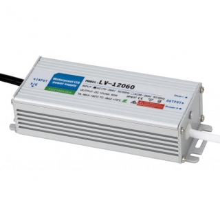 Transformador Estanco 60w 12v Ip67  15,1x5,3x3,5