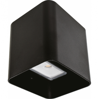Aplique Exterior 8w 6500k Soure Negro Ip54